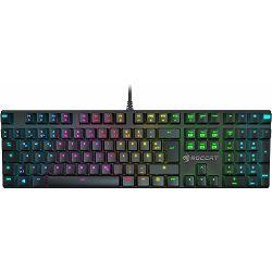 Tipkovnica ROCCAT Suora FX, RGB osvjetljenje, UK/HR layout, mehanička, crna