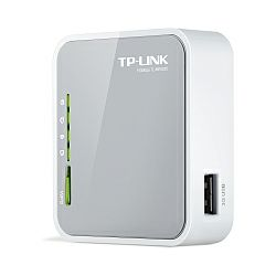 TP-Link TL-MR3020 150Mbps Portable 3G Wireless N Router, Compatible with UMTS, HSPA, EVDO USB modem, 3G, WAN failover, 2.4GHz, 802.11n, g, b, Powered by power adapter or USB host, Internal antenna