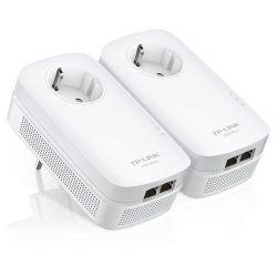 TP-Link AV1000 Powerline Gigabit mrežni adapter, 1000Mbps, 2×Gigabit mrežni ulaz, HomePlug AV2 (duplo pakiranje)