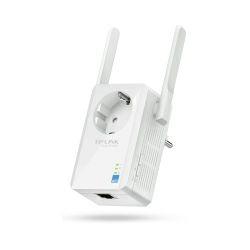 TP-Link Bežični pojačivač dometa (Universal Range Extender) 300Mbps, Wall Mount, (2.4GHz), 802.11b/g/n, 2 vanjske antene, range extender tipka, dodatna utičnica