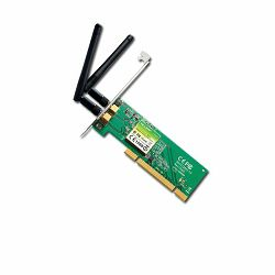 TP-LINK TL-WN851ND 300Mbps Wireless N PCI Adapter, Atheros, 2T2R, 2.4GHz, 802.11n,g,b, with 2 detachable antennas