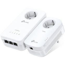 TP-Link AV1200 Powerline bežični mrežni adapter, 300Mbps/867Mbps (2.4GHz/5GHz), 2×2 MIMO, 3×GLAN, HomePlug AV, Plug and Play, dodatna strujna utičnica, (TL-PA8010P & TL-WPA8630P)
