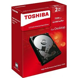Tvrdi disk Toshiba P300 2TB, 64MB, 7200rpm, retail