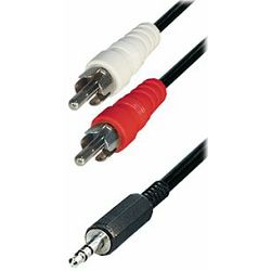 Cable 2x RCA-plug - 3,5 mm stereo plug, 10m