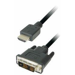 Transmedia Monitor Cable DVI HDMI 20m