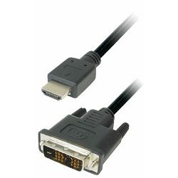 Transmedia Monitor Cable DVI HDMI 1m