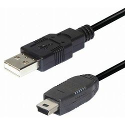 #81 Transmedia USB A to 5 pin mini Kabel 1m