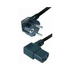 Power Cable Schuko -angled IEC 320 plug 2m