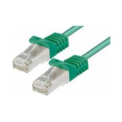 CAT6a PIMF Patch Cable 0,25m green