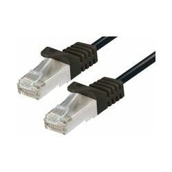 CAT6a PIMF Patch Cable 0,5m black