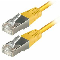 Transmedia S-FTP Cat5E Patch Kabel (RJ45), Yellow 1m
