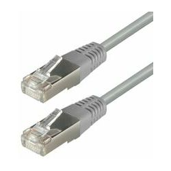Transmedia S-FTP Cat5E Patch Kabel (RJ45), Sive boje 15m