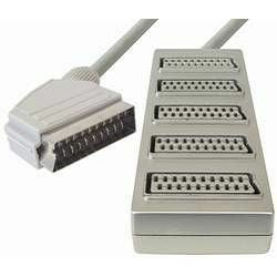 Transmedia Scart-plug to 5x Scart-jack