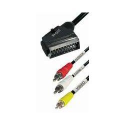 Transmedia Scart-plug to 3RCA plug, 2m