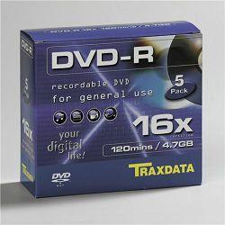 TRAXDATA OPTIČKI MEDIJ DVD-R 16X BOX 5