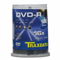 TRAXDATA OPTIČKI MEDIJ DVD-R 16X CAKE 100