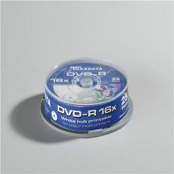TRAXDATA OPTIČKI MEDIJ DVD-R 16X CAKE25 WHITE FULL PRINTABLE