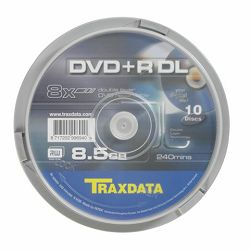 TRAXDATA OPTIČKI MEDIJ DVD+R DUAL LAYER 8X CAKE 10