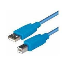Transmedia USB 2.0 AB, Blue, 1,8m