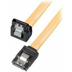Transmedia HDD SATA cable 1.5 3 6 Gbit s 7 pin SATA L-type plug 0,7m