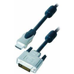 TRANSMEDIA HDMI kabel HDMI-plug 19 pin to DVI-plug 24 1 pin 2m