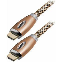 Transmedia HDMI nylon braided cable, metal housing 2m