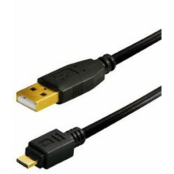 Transmedia USB typeA plug-Micro USB typeB Gold Plated Plug