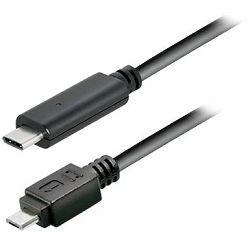 Transmedia USB type C plug - USB 2.0 type B Micro B plug, 1,0 m