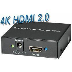 Transmedia 4K HDMI 2.0 Splitter 1:2