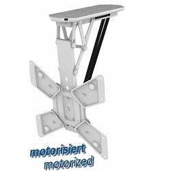 Transmedia Folding Motorized Suspension Bracket for LCD Monitor, White