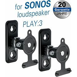 Transmedia brackets for SONOS loudpseakers, Black