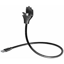 Transmedia flexible hand-holder for smartphones USB A - Micro USB B