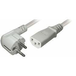 Transmedia Power Cable CEE 7 7 plug angled - IEC 320 C13 Jack