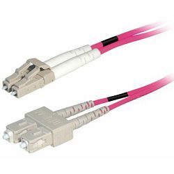 Transmedia Fibre optic MM OM4 Duplex Patch cable LC-SC 0,5m