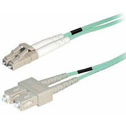Transmedia Fibre optic MM OM4 Duplex Patch cable LC-SC 10m