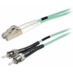 Transmedia Fibre optic MM OM4 Duplex Patch cable LC-ST 1m