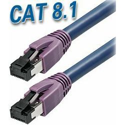 Transmedia Cat 8.1 SFTP Kabel 1m, dark blue