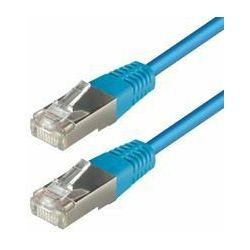 Transmedia S-FTP Cat5E Patch Kabel (RJ45), Blue 0,75m