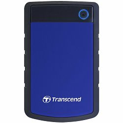 TRANSCEND USB HDD, StoreJet 25H3, 1TB, USB3.0, Rubber casing, Military-grade shock resistance, Quick Reconnect Button, Blue, 3 yrs