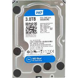 Tvrdi disk HDD Desktop WD Blue (3.5, 3TB, 64MB, 5400 RPM, SATA 6 Gb/s)