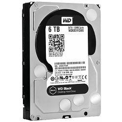 Tvrdi disk HDD WD Black (3.5, 6TB, 128MB, 7200 RPM, SATA 6 Gb/s)