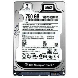Tvrdi disk HDD WD Black 750GB Sata 2,5