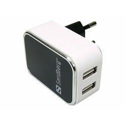 USB punjač Sandberg AC Charger Dual, 2 porta