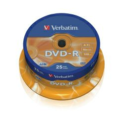 DVD-R Verbatim 4.7GB 16× Matt Silver 25pack spindle