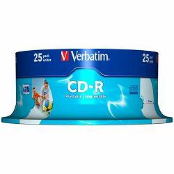 DVD+R Verbatim 4.7GB 16× Wide PhotoPRINTABLE 25 pack spindle