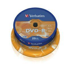 DVD-R Verbatim 4.7GB 16× Datalife Matt Silver 25 pack spindle