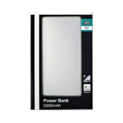 Verbatim prijenosni punjač Power Bank 5000mAh, 1×USB-C + 1×micro USB, sivi