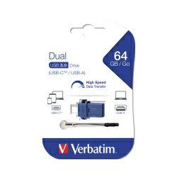 Verbatim USB3.0/USB-C StorenGo Dual 64GB, crno-plavi