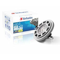Verbatim LED žarulja AR111 (G53) 12.0W, 680lm, 2700K, 40°, dimabilna, topla bijela
