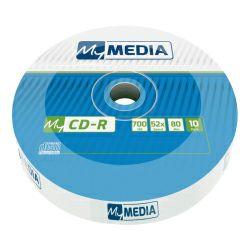 CD-R MyMedia 700MB 52× Matt Silver, Wrap pakiranje 10 kom.